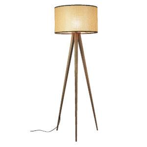 Lampa podłogowa ZUIVER Tripod z kloszem z siatki tapicerskiej