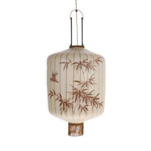 Lampa wisząca HK LIVING Lampion, tradycyjna kolor kremowy rozmiar L