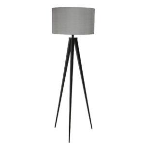 Lampa podłogowa ZUIVER Tripod szaro-czarna