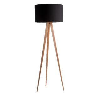 Lampa podłogowa ZUIVER Tripod Wood czarna