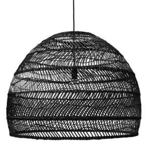 Lampa wisząca HK LIVING Wiklinowa, kolor czarny, rozmiar L