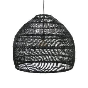 Lampa wisząca HK LIVING Wiklinowa czarna, rozmiar M