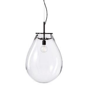 Lampa wisząca Bomma Tim przeźroczysta-czarna duża