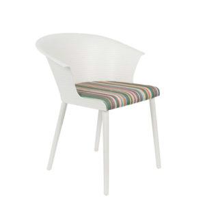 Fotel OLIVIA, marki White Label Living, czarny lub biały