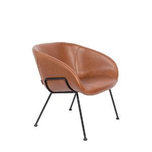 Fotel skórzany lounge FESTON marki Zuiver, dwa kolory
