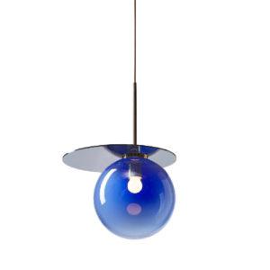 Lampa wisząca Bomma Umbra niebiesko-złota