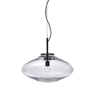 Lampa wisząca Bomma Disc przeźroczysta-czarna