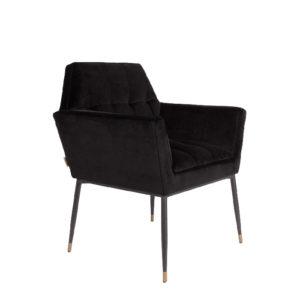 Fotel KATE marki Dutchbone, czarny/różowy