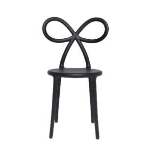 Krzesło QEEBOO, Ribbon, z oparciem w kształcie wstążki