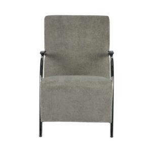 Fotel sztruksowy, kolor wyblakły zielony, marki Woood