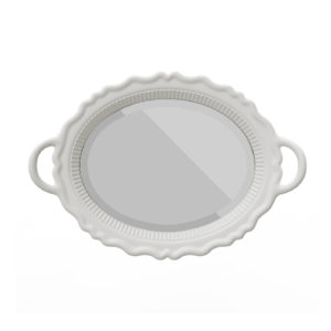 Białe lustro PLATEAU marki Qeeboo